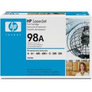 Заправка картриджа HP 98A (92298A) в Москве
