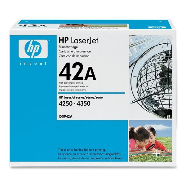 Заправка картриджа HP 42A (Q5942A) в Москве