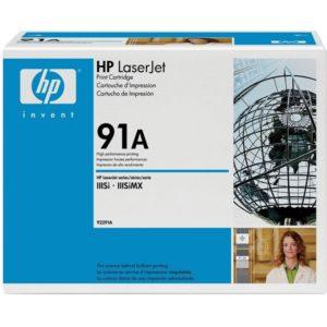 Заправка картриджа HP 91A (92291A) в Москве