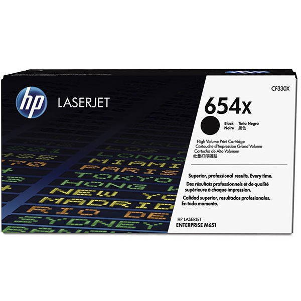 Заправка картриджа HP 654X (CF330X) в Москве