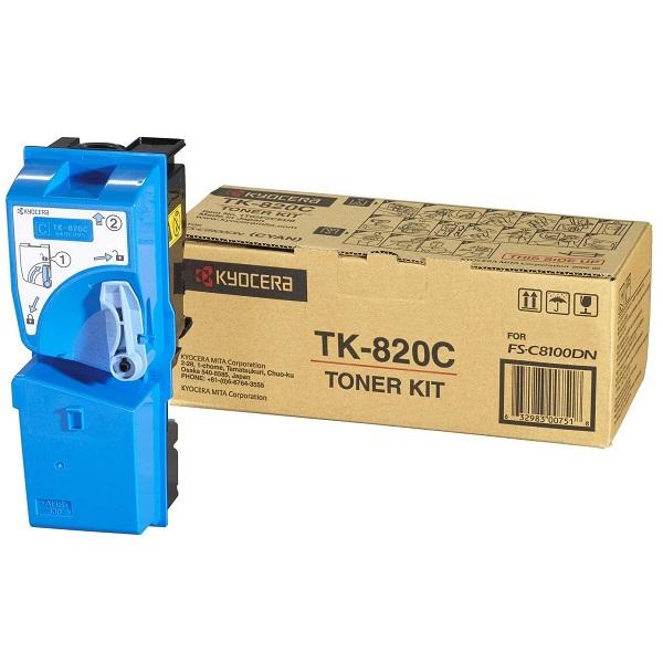 Заправка картриджа Kyocera TK-820C (1T02HPCEU0) в Москве