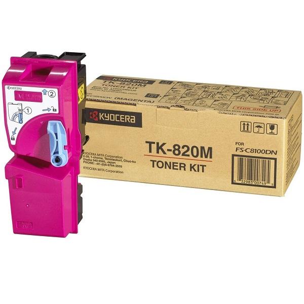 Заправка картриджа Kyocera TK-820M (1T02HPBEU0) в Москве