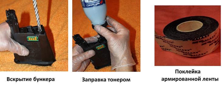 заправка TK-1110 инструкция