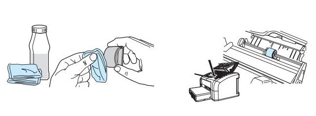 чистка подающего ролика